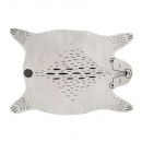 teddy bear rug, black & white