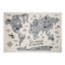 world map rug, multicolored