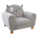 cat ears armchair, gray