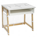 football cage desk, white
