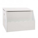 toy box biblio white, white