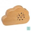 boite a musique nuage en bois, 2-fois assorti, bei