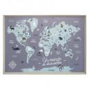 wereldkaart, veelkleurig