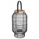 lanterne metal fil etnik h31,5, noir