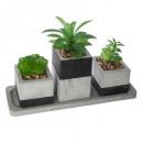 groen plantenbakje cim h.17, grijs