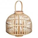 wholesale Wind Lights & Lanterns: lantern rattan petticoat d37xh35, beige