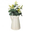 eucal ceramic crackle wind h30, wit