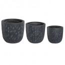 potten zwarte stratum max h41 x3, zwart