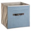 boite rangement 31x31 jean bleu c, bleu clair