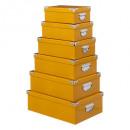 esquinas de metal de caja x6 amarillo, amarillo