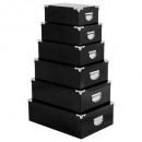 mayorista Organizadores y almacenamiento: esquinas de caja de metal x6 uni negro, negro