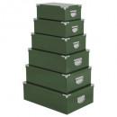 esquinas de metal en caja x6 uni v sage, verde osc