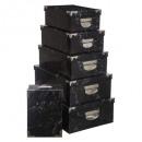caja esquinas metalicas x6 marmol no, negro