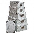 box metal corners x6 marble gr, gray