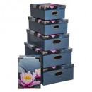 esquinas caja de metal x6 zen flor, 2- veces surti