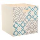 Caja de almacenaje 31x31 decorada en madera, 2 vec