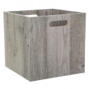 storage box 31x31 wood gray