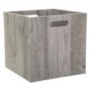 caja de almacenamiento 31x31 madera gris