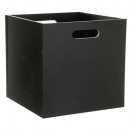 Caja de almacenamiento 31x31 madera negro, negro.