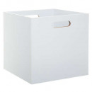 storage box 31x31 white wood, white
