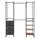modular wardrobe 6pc, black