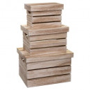 wooden crate box x3