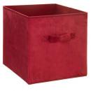 Aufbewahrungsbox 31x31 rot Samt , dunkelrosa