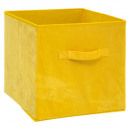 storage box 31x31 velvet yellow, yellow
