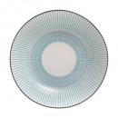 plate hollow lunis blue 20,5cm