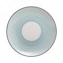 plate dessert lunis blue 19cm