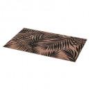 conjunto de mesa de palma 45x30cm negro