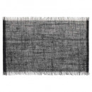 wholesale Table Linen: jute table set with black fringe