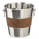 champagne bucket stainless steel marc leather