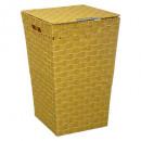 cesto para la ropa lisa amarillo m, amarillo