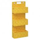 estanterías 3 niveles suspensión lisa amarillo, am