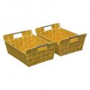 cesta bisel x2lisa amarillo m, amarillo