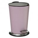 poubelle 3l laure mat rosedust, rose clair