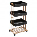 serving trolley 4 flat lea black, black
