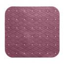pvc douchebak 55x55cm terrac, donker roze