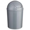 cubo de basura gris 7l, gris medio