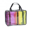 wholesale Bags & Travel accessories: x4 flashy toiletry times assorted , 2- times assor