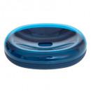 Jabonera de plástico doble marino, azul marino.