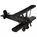 wholesale Garden & DIY store: black resin deco airplane collect, black