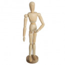 wholesale Garden & DIY store: mannequin deco wood collect, beige