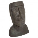 statue Easter Island resin h26, brown