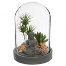 jardin zen cloche, gris