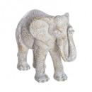 Elefante blanco resina h15, beige.