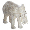 elephant white resin h22, beige