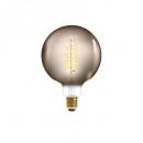 led lamp twisted smoke g125 4w, gerookt grijs