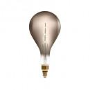 led lamp twisted smoke ps160 6w, gerookt grijs